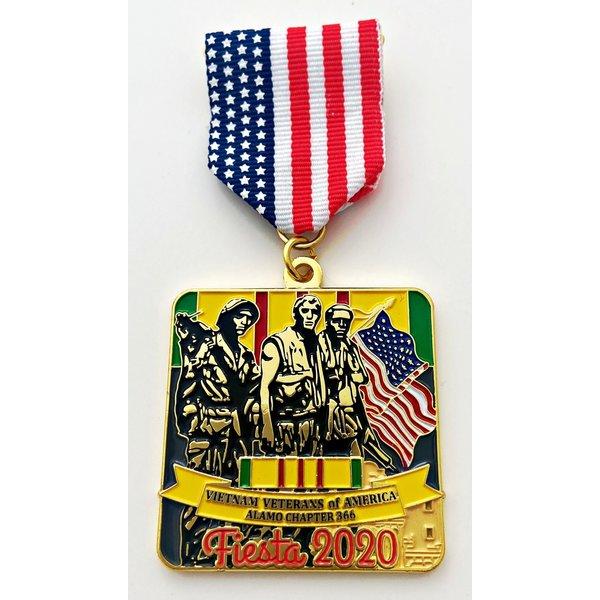 #12 Vietnam Veterans Alamo Chapter 366 Medal- 2020