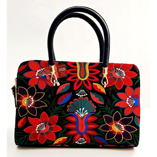 Geniune Leather Tan Embroidered Purse-20
