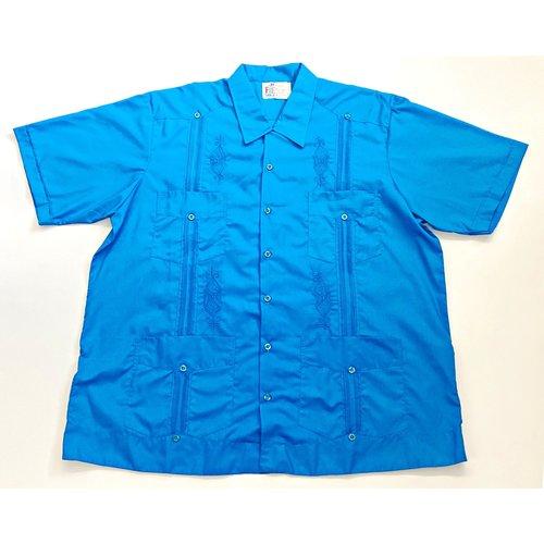 CYAN BLUE- Men's Guayabera