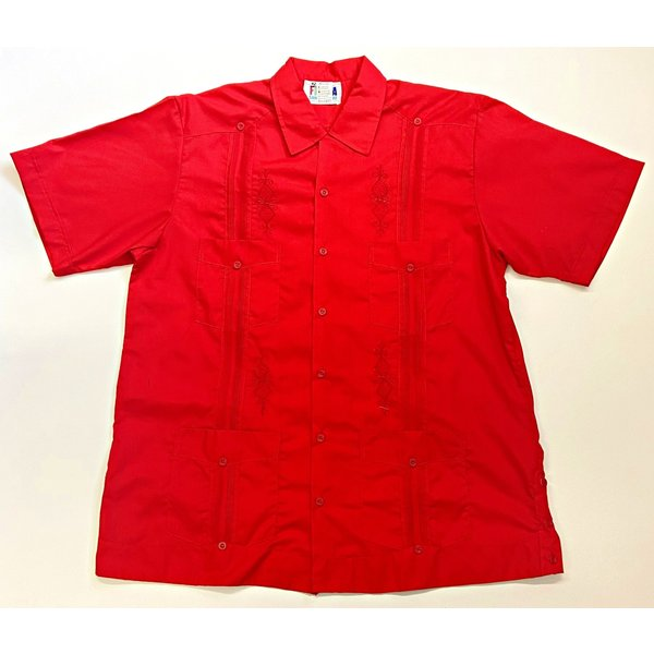 RED- Men's Guayabera