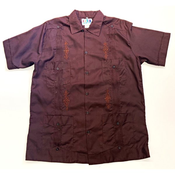 DARK BROWN- Men's Guayabera