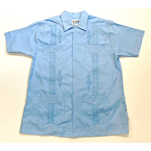 SKY BLUE- Men's Guayabera