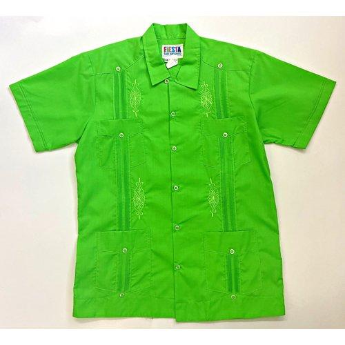 GREEN- Men's Guayabera