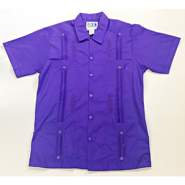 PURPLE- Men's Guayabera