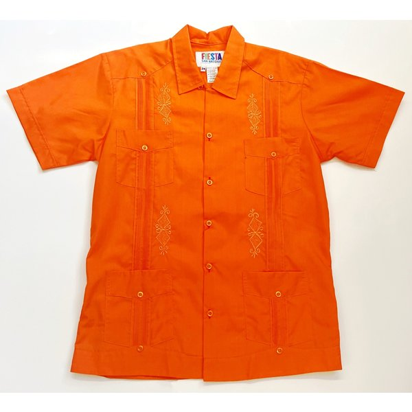 ORANGE- Men's Guayabera