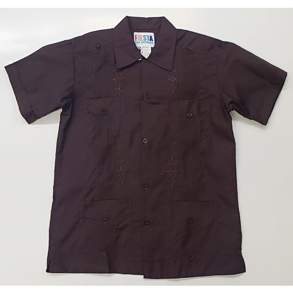 DARK BROWN- Youth Guayabera