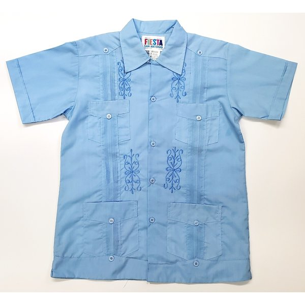 SKY BLUE- Youth Guayabera