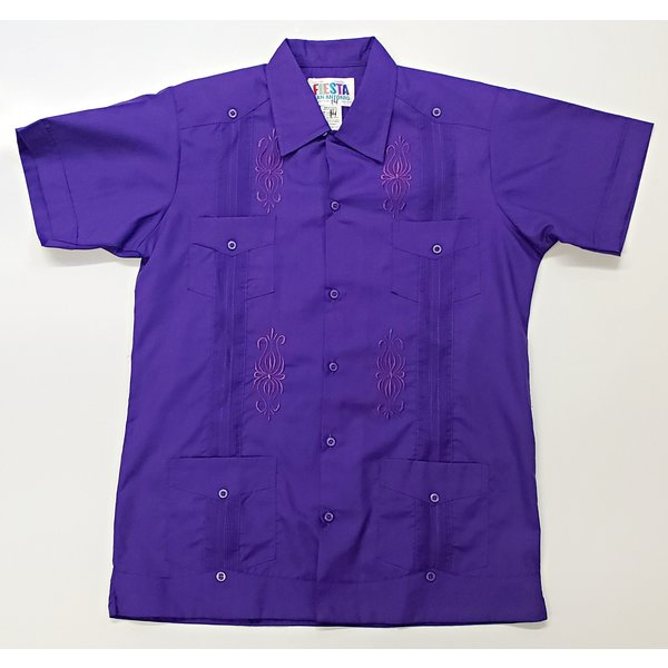 PURPLE- Youth Guayabera