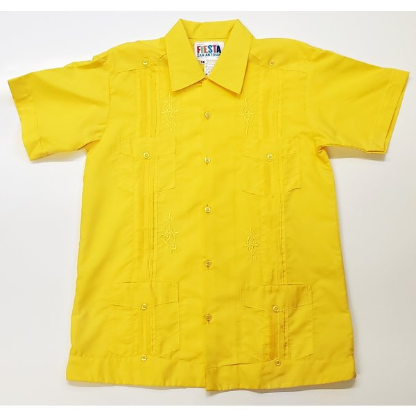 YELLOW- Youth Guayabera