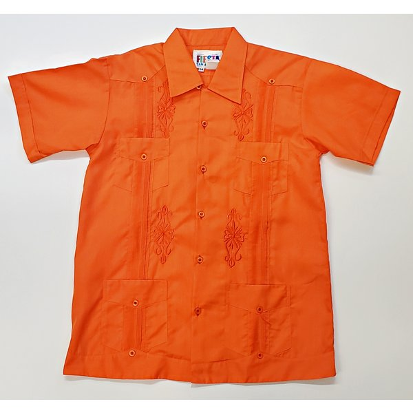 ORANGE- Youth Guayabera