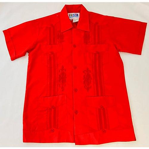 RED- Youth Guayabera