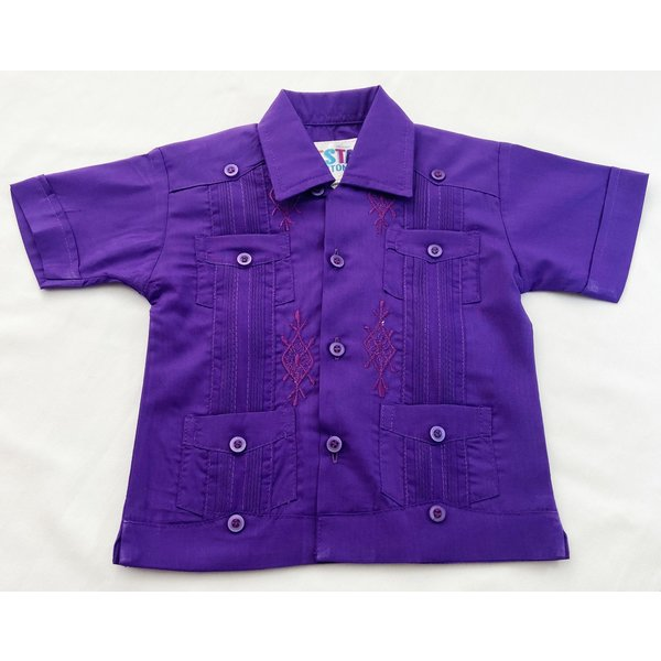 PURPLE- Toddler Guayabera