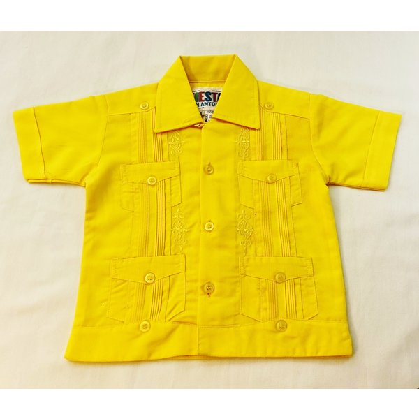 YELLOW- Toddler Guayabera