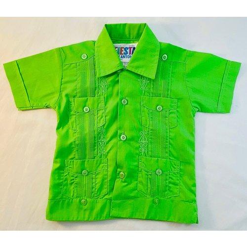 GREEN- Toddler Guayabera