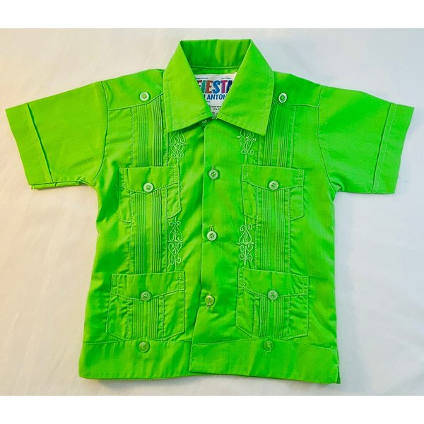 GREEN- Toddler Guayabera
