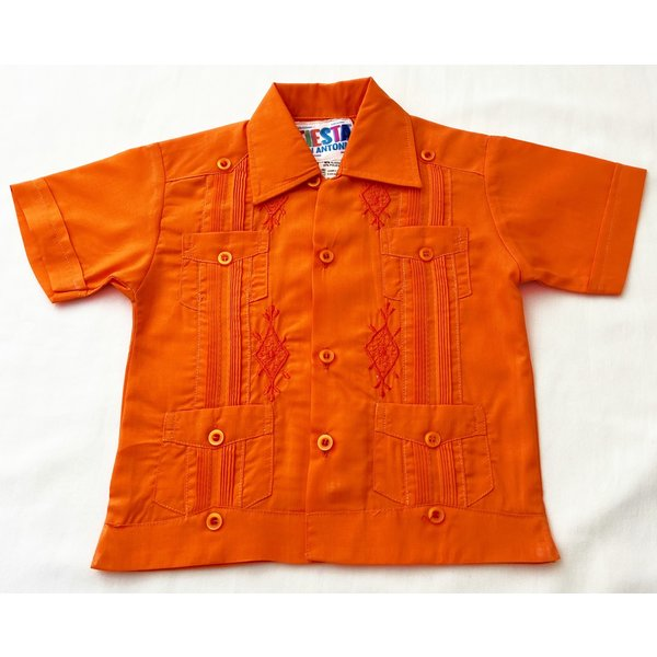 ORANGE- Toddler Guayabera