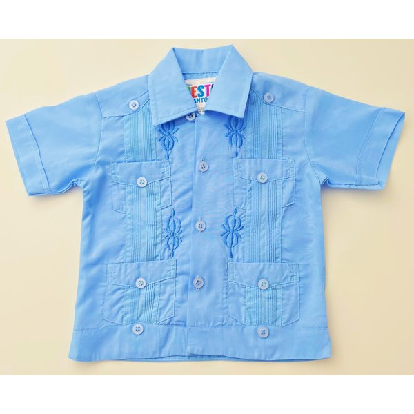 SKY BLUE- Toddler Guayabera