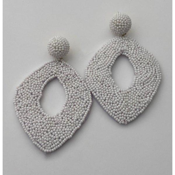 Abby-White Earring-19