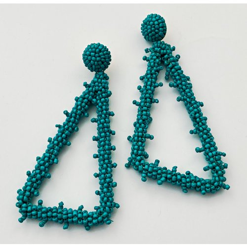Beaded Triangle Turquise Earing-19