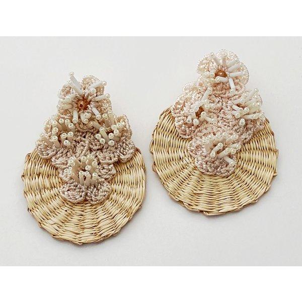 Iraca Flower Earring-19