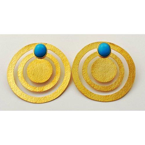 OverSize Turquoise Earring-19