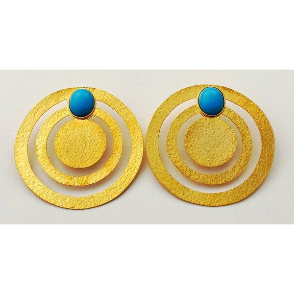 OverSize Turquise Earring-19