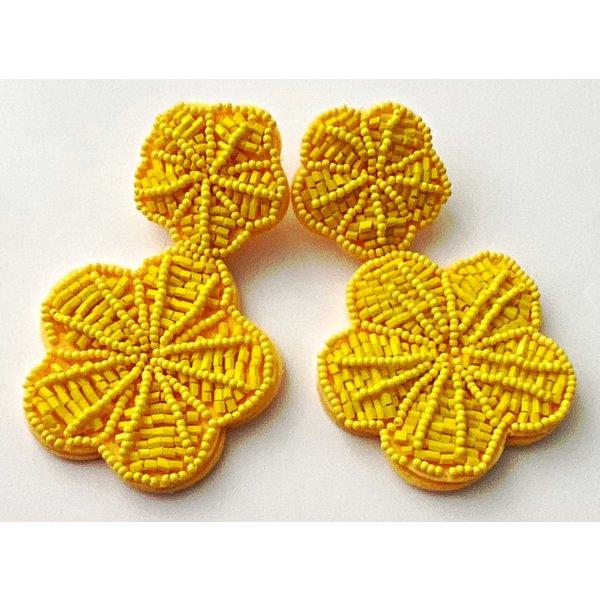 Treasure Jewels Margarita Yellow Earrings-20