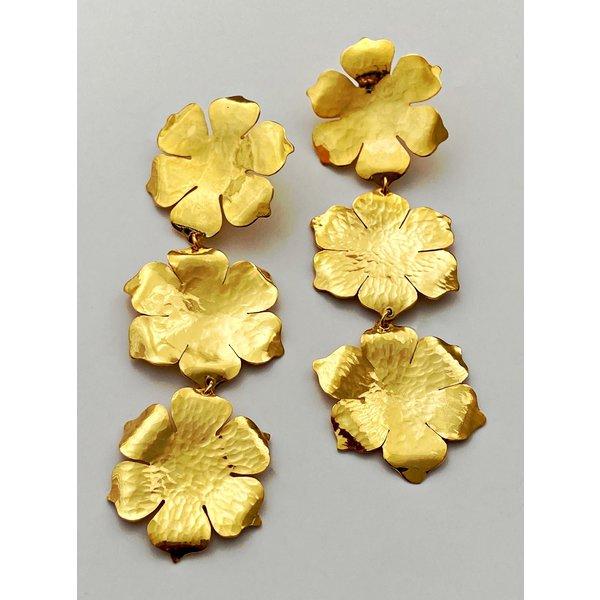 Triple Flower Earring-19