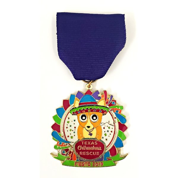 Texas Chihuahua Rescue VIntage Medal- 2019