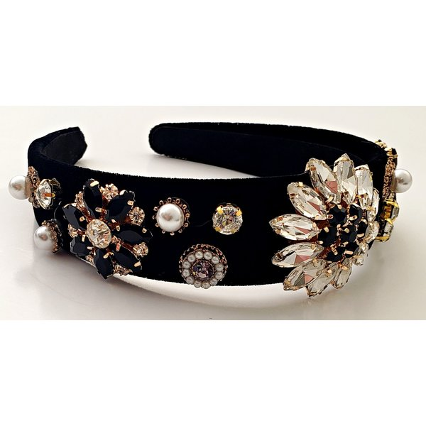 Black Rhinestone Headband-20