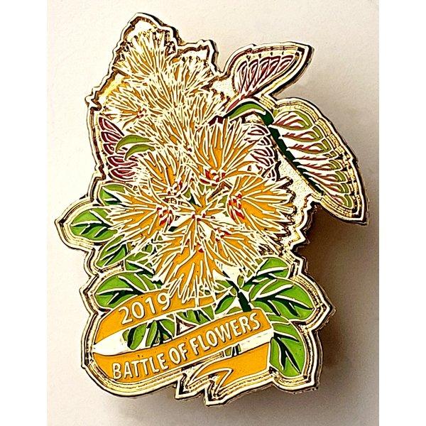 Battle of Flowers Vintage Wildflower Pin- 2019