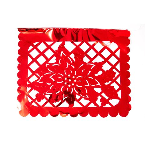Metallic Chritmas Papel Picado by- SA Flavor- 2020
