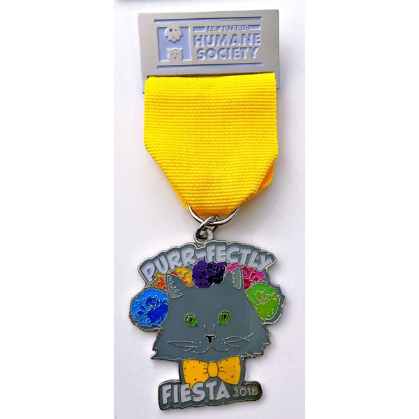 San Antonio Humane Society Vintage Purrfectly FIesta Medal 2018