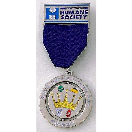 San Antonio Humane Society Vintage Medal 2017