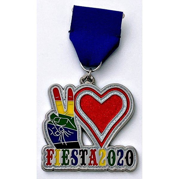 #63 Diana's Medals- Peace. Love. FIesta. Medal- 2020
