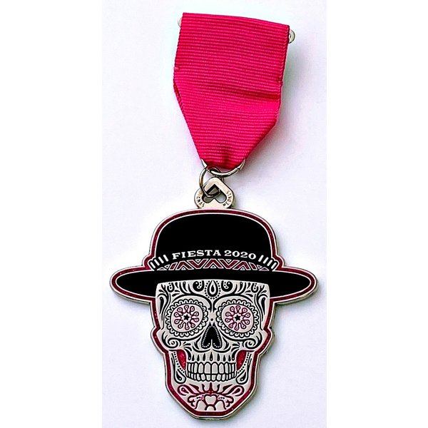 #64A- Diana's Medals- Pink Skull Medal- 2020