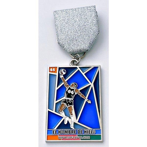 #72 SA Flavor- El Hombre de Hielo Loteria Iceman Spurs Inspired Fiesta Medal- 2020