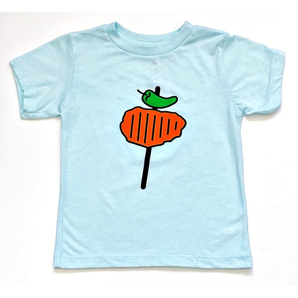 Toddler Blue Chicken on a Stick Tee- S.A. Flavor - 20