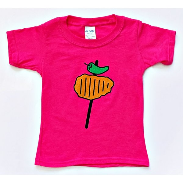 Toddler Pink Chicken on a Stick Tee - S.A. Flavor - 20