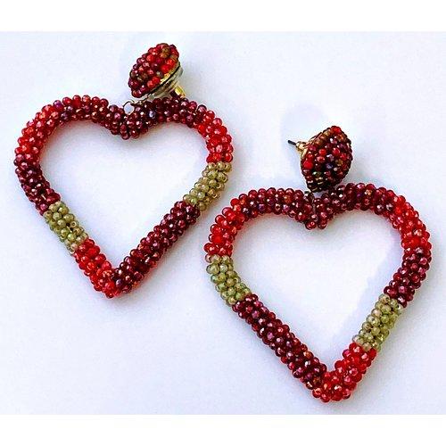 Beaded Heart Earring-20