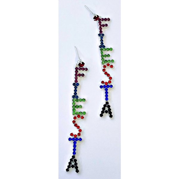Colored Fiesta Long Earring-20
