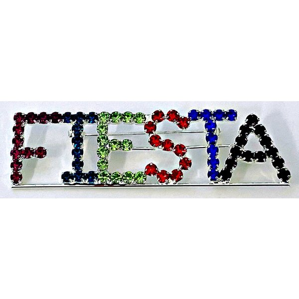 Colored Square Fiesta Brooche-20