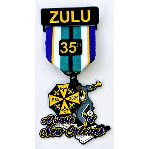 #95A San Antonio Zulus Association (SAZA)- A Taste of New Orleans 35th Anniversary Medal- 2020