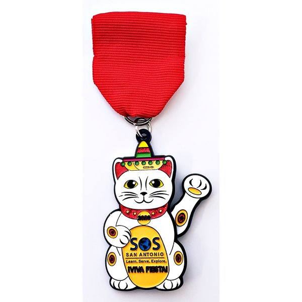 #96 SOS- Summer of Service Lucky Cat- Medal 2020