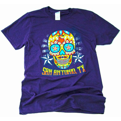 San Antonio Sugar Skull-Dark Purple- 20