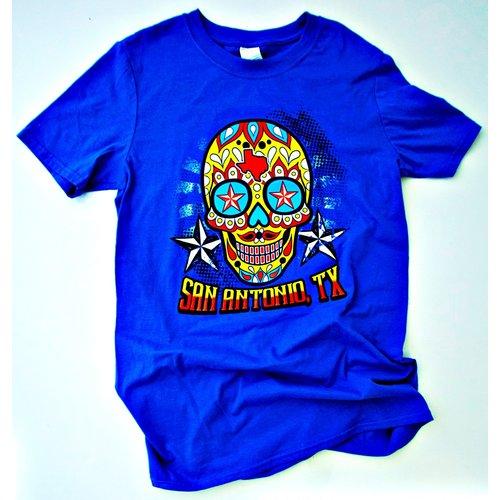 San Antonio Sugar Skull-Blue- 20