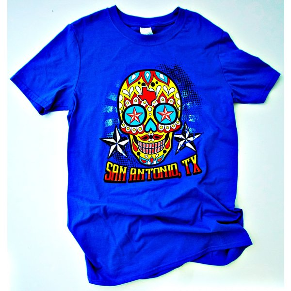 San Antonio Sugar Skull-Blue- 20