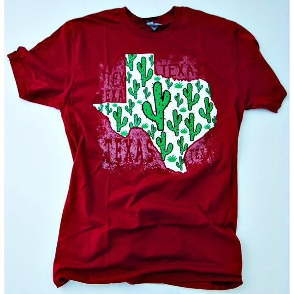 Texas Cactus Burgandy- 20