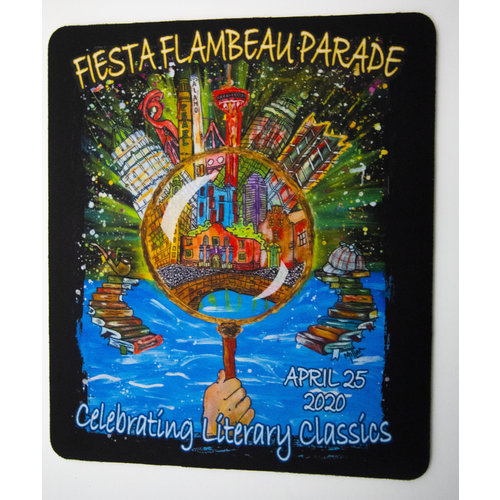 2020 Official Fiesta Flambeau Poster Mousepad