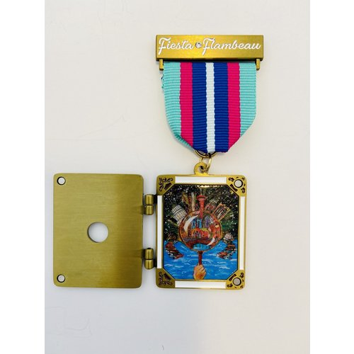 Official Fiesta Flambeau Parade 2021 Medal